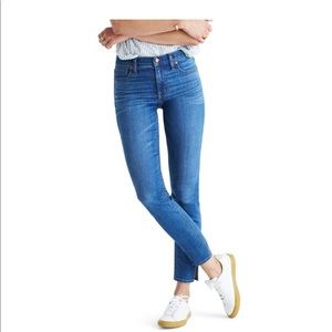New Madewell 9 inch high rise side slit jeans